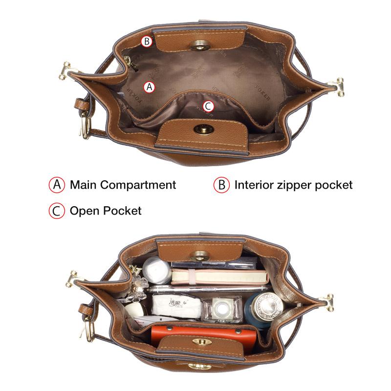 FOXER Hardy Women Leather Shoulder Bags