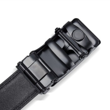 Hot selling men's fashion business casual all-match black black buckle automatic buckle belt