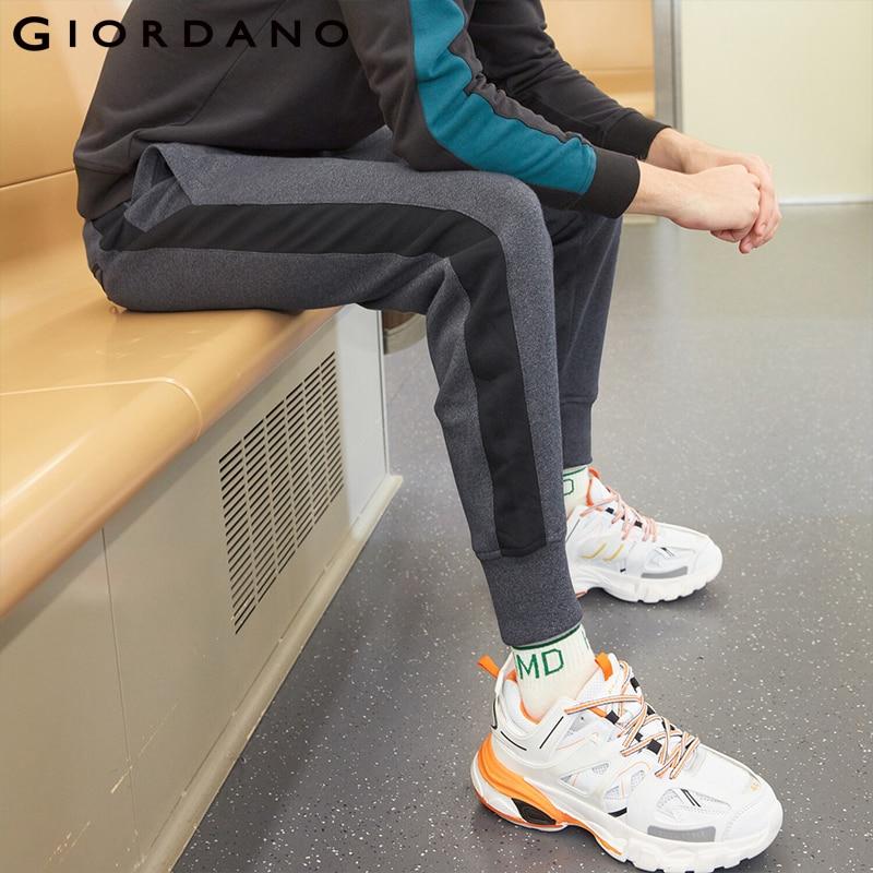 Giordano Men Pants Zip Pocket Terry Joggers For Men Knitted Jogger Pants Male Moletom Masculino Pantalones Hombre Casual