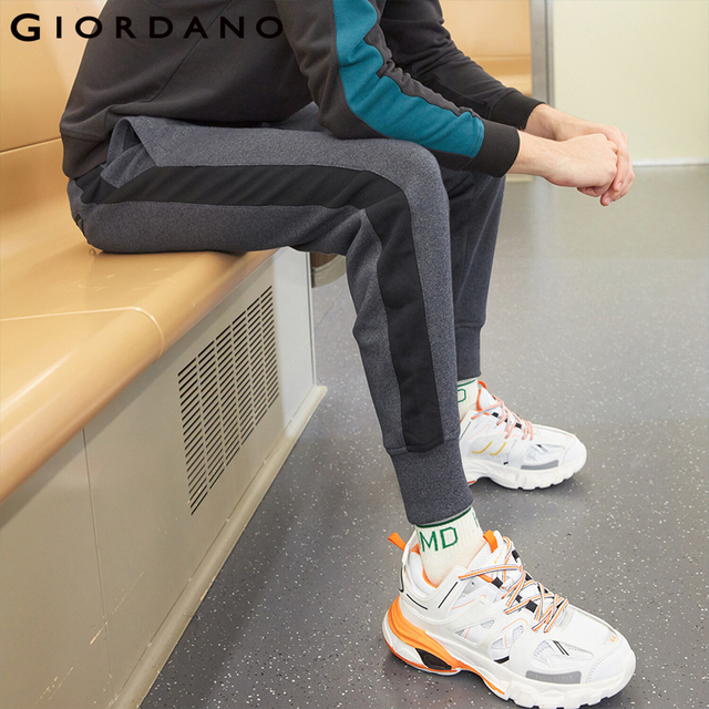 Giordano Men Pants Zip Pocket Terry Joggers For Men Knitted Jogger Pants Male Moletom Masculino Pantalones Hombre Casual 45