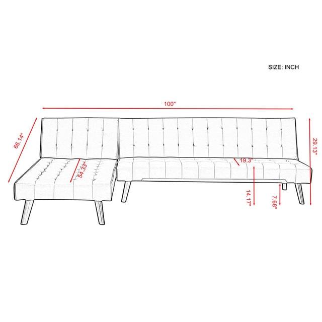 Reversible Sofa Sectional Sleeper  6
