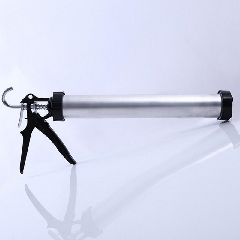 Aluminum Cylinder Glass Glue Gun Profession Handheld Cartridge Gun Silicon Structure Glue Gun For  Improvement