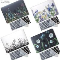 Nova impressão 3d criativo caso do portátil para macbook ar pro retina 11 12 13 15 polegada com barra de toque  caso + capa de teclado transparente|Bolsas e estojos p/ laptop| |  -