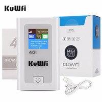 KuWFi Power Bank 4G LTE Router 3G/4G Sim Card Wifi Router Pocket 150Mbps CAT4 Hotspot WiFi Mobile con Slot per schede SIM