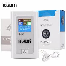 KuWFi – routeur Wifi 3G/4G LTE batterie externe Mbps CAT4, point d'accès Mobile de poche pour carte Sim