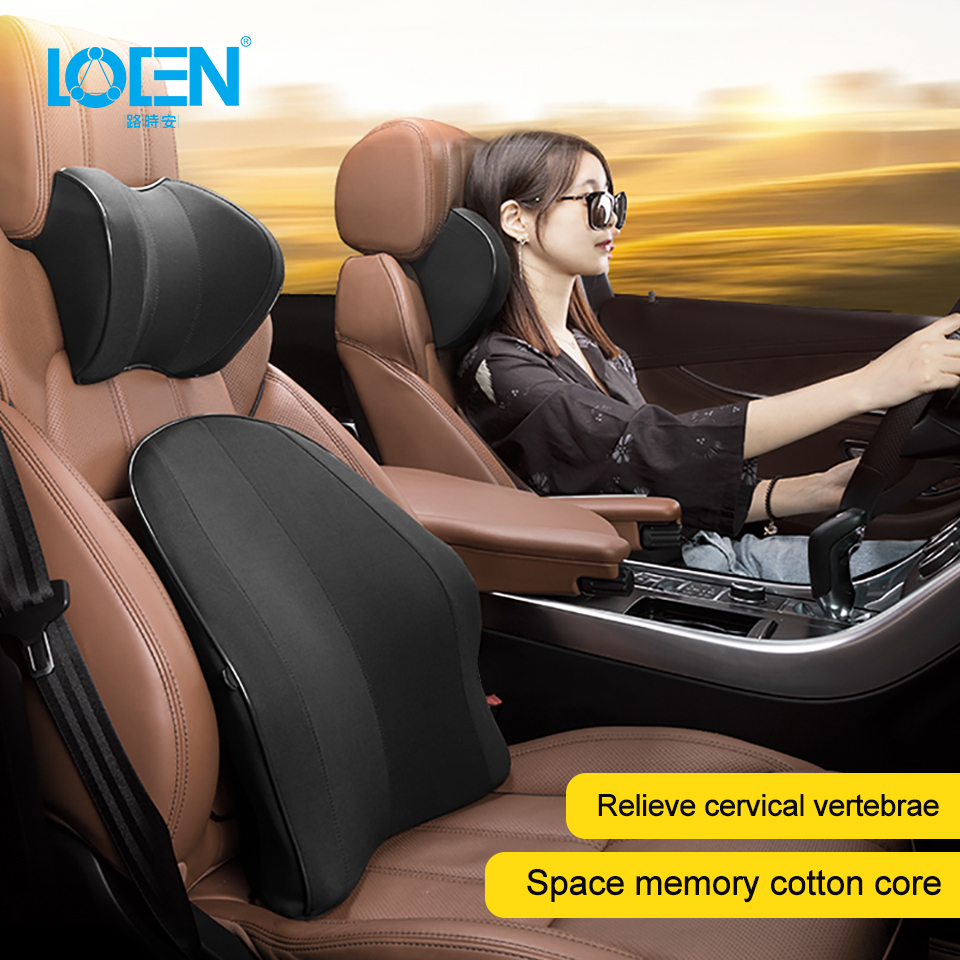 LOEN New Memory Foam Functional Neck Pillow U Shaped Travel Pillow Car Head Neck Rest Pillow Seat Cushion For Travel Home Office