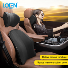 цена на LOEN New Memory Foam Functional Neck Pillow U Shaped Travel Pillow Car Head Neck Rest Pillow Seat Cushion For Travel Home Office