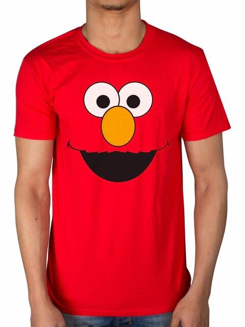 Sésame Street Elmo t-shirt hommes femmes début oiseau Grover Ernie Oscar Cookie Monster confortable hauts t-shirt