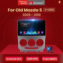 Controle de voz 2gb + 32gb android 10.0 de junsun ai para mazda 5 2005-2010 rádio do carro reprodutor de vídeo multimídia navegação gps 2 din