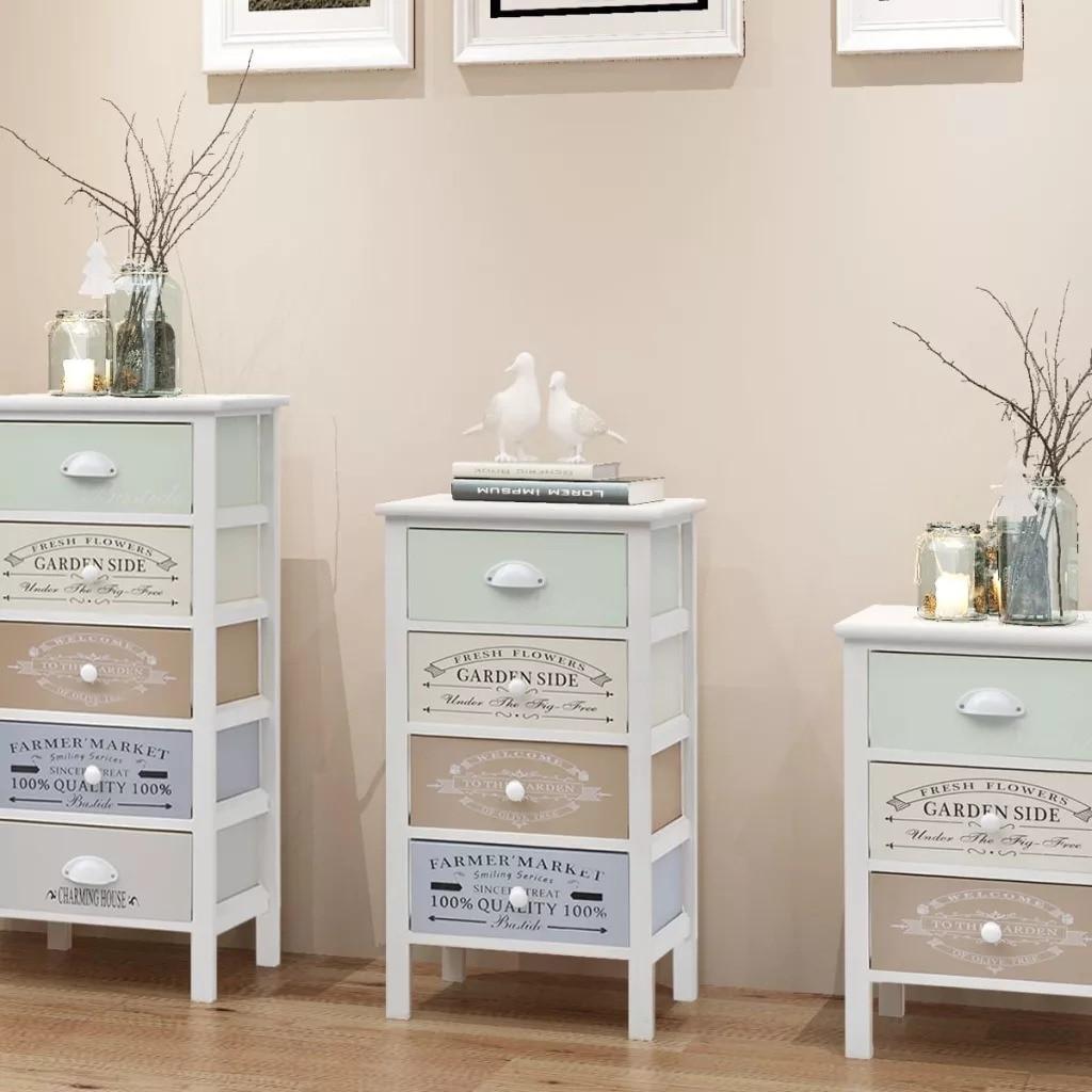 VidaXL French Storage Cabinet 4 Drawers Wood 242877