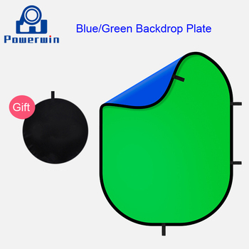 Powerwin Studio Photography 150x200cm Dual Sided Backdrop Background Plate Reflector Cloth Blue Green Grey Black White For Stand