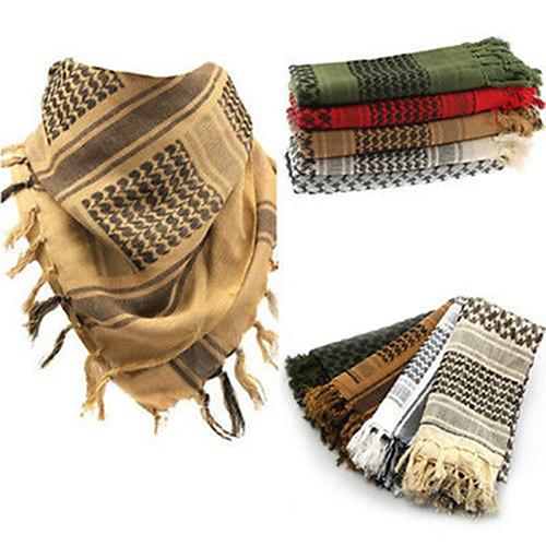 Fashion Unisex Light Weight Military Arab Tactical Desert Army Shemagh KeffIyeh Scarf Bufanda Seda Hombre Braga Cuello Niña