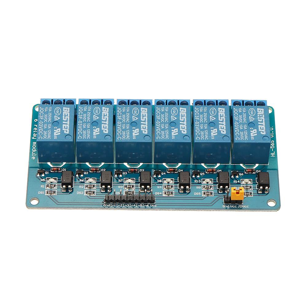6 Channel 3.3V Relay Module Optocoupler Isolation Active Low BESTEP For Arduino