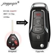 Jingyuqin – clé télécommande à 4 boutons, 315Mhz, à bascule, mise à niveau, avec puce GQ429T, 4D67G, pour voiture TOYOTA AVALON COROLLA Pontiac Vibe (2007 – 2010)