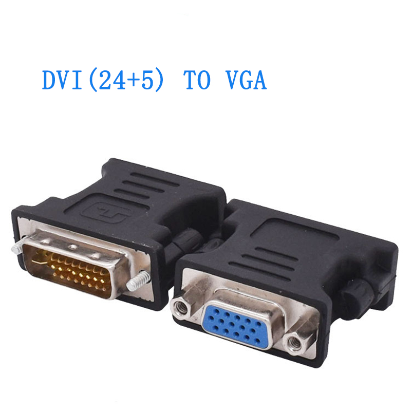 DVI 24+5 Male To VGA 15pin Female Adapter Connector