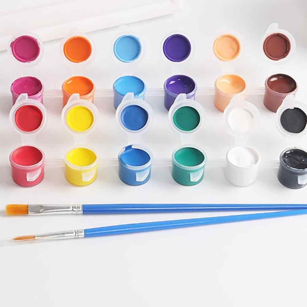 Effen 12 Aquarel Pigment Ceremics Aardewerk Kwast Diy Art Ambachten Set Gift Voor Kinderen Leren Schilderen Meester Vaardigheid