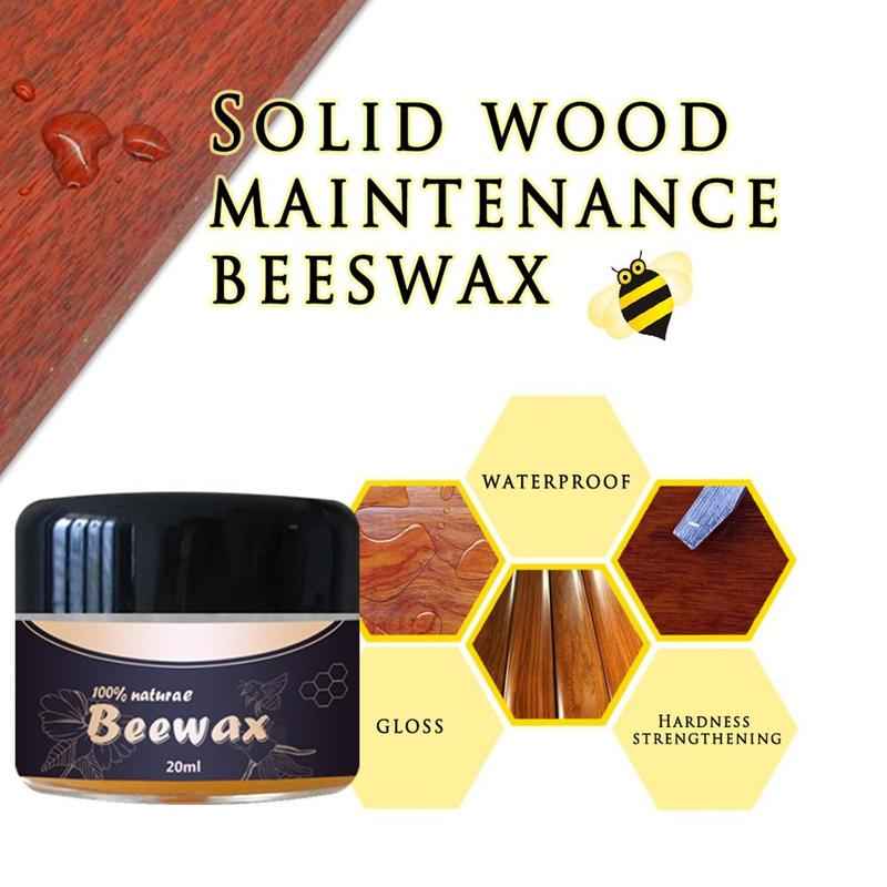 1PC Wood Seasoning Beewax Floor Beeswax Furniture Maintenance Rosewood Care Polishing Wax Wood Care Beewax