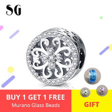 High Quality 925 Sterling Silver Pattern Four-leaf Clover Hollow Charms Beads Fit Original Pandora Bracelet Women Jewelry