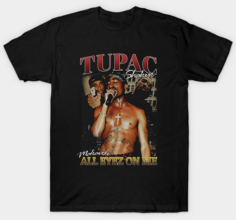 Tupac 2Pac T Shirt All Eyez On Me 2 Pac Exclusive Clothing