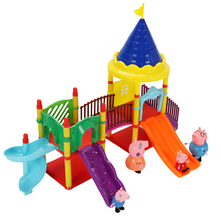 Peppa Pig Little Girl George Family Friends Doll Scene Reality Model Amusement Park PVC Action Character Cartoon Anime Child