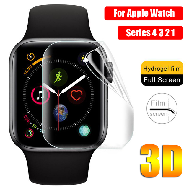 New Coming 3D TPU Hydrogel Protective Film Full Cover Screen Protectors For i-Watch Apple Watch Series 4 3 2 1 Soft Durable 1