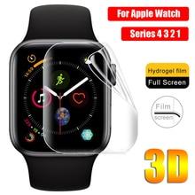 Новые приходят 3D ТПУ гидрогель защитная пленка полное покрытие экрана протекторы для меня-часы Apple часы серии 4 3 2 1 мягкий прочный