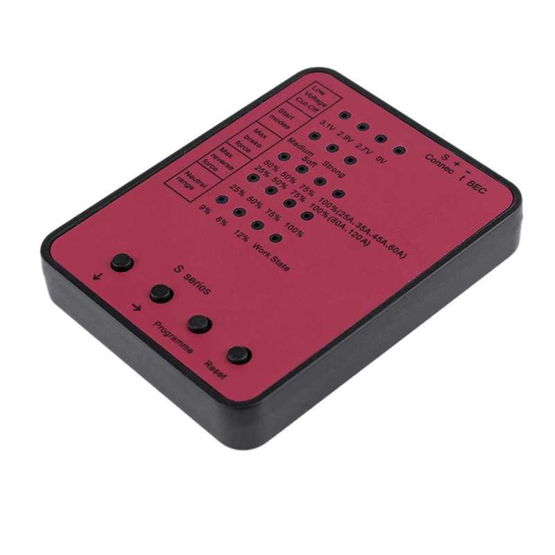 Tarjeta de programación completa para controlador de velocidad electrónico sin escobillas 45A/120A Rc Car Esc
