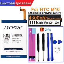 Para htc original 4300mah b2ps6100 telefone bateria apto para htc um m10 10/10 estilo de vida m10h batterie batterij + ferramentas