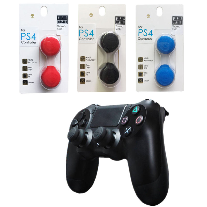 Silicone Analog Grips Thumb Stick Caps For Playstation 4 Controller Skull &Co. FPS Master Thumb Cover For PS4 Slim PRO Gamepad image