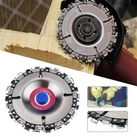 4'' Angle Grinder Disc 22 Tooth Fine Cut Chain Saw Grinding Chain Wheel for Angle Grinders Wood Carving Disc Cut Chainsaw Disc