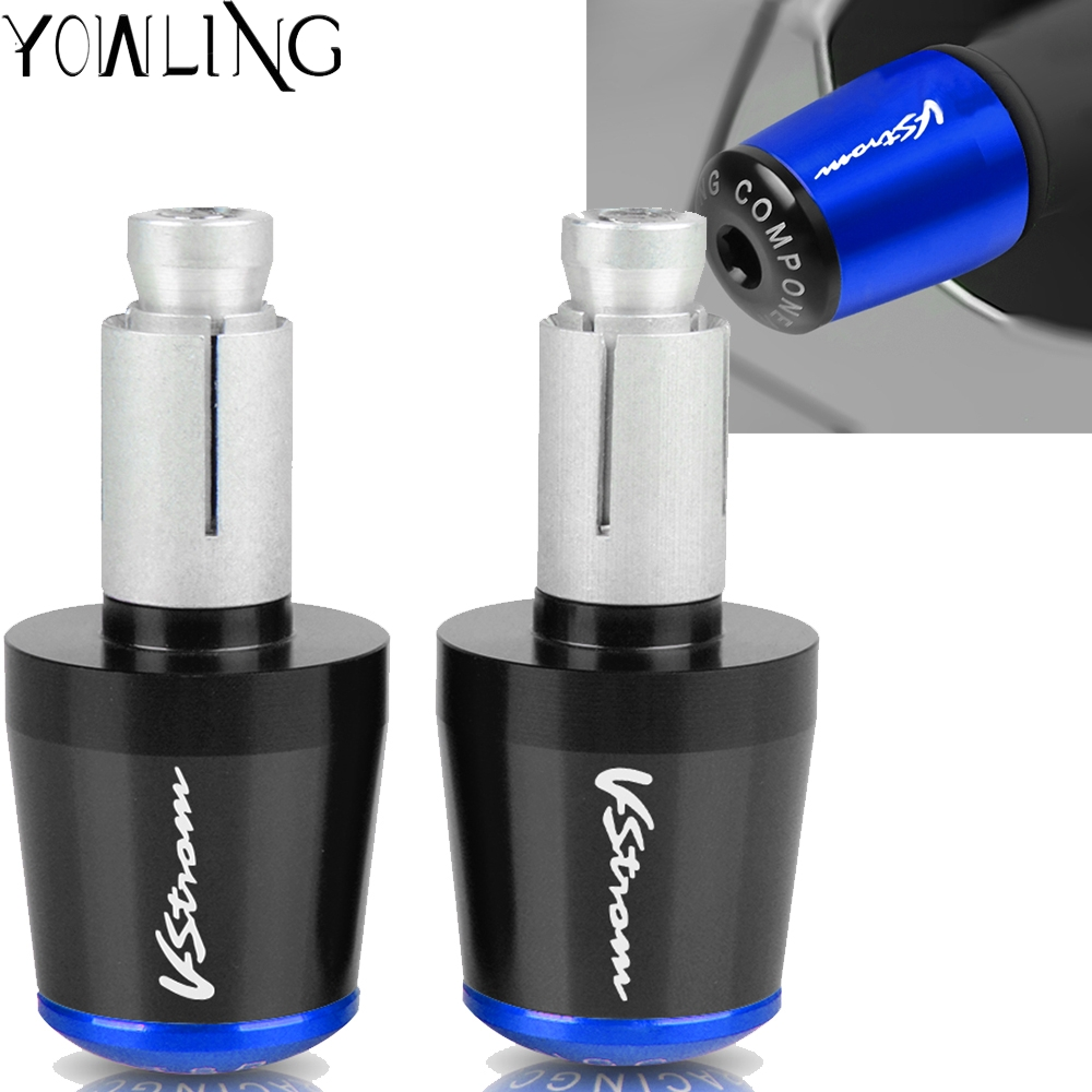 1pair 22MM Handlebar Hand Grips Handle Bar End Cap Cover For SUZUKI <font><b>V</b></font>-Strom <font><b>250</b></font> 650 <font><b>1000</b></font> DL650 DL1000 DL250 Vstrom 2012-2018 image