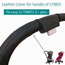 Akcesoria dla wózków dziecięcych skórzany futerał ochronny pokrowiec z rączką do wózka CYBEX EEZY S + TWIST