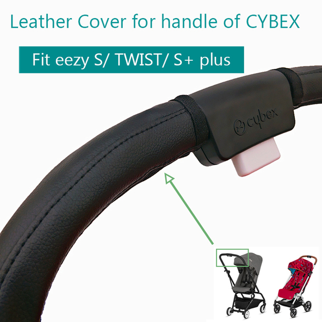 Baby Stroller Accessories Leather Protective Case Cover of handle for CYBEX EEZY S S+ TWIST stroller