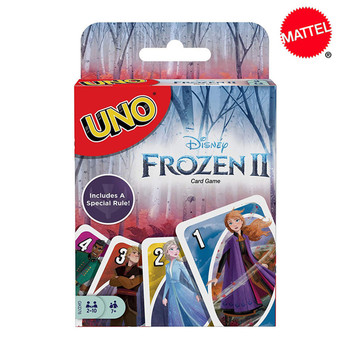Mattel Games UNO Disney Frozen 2 Card Game Family Funny Game Fun Poker Multiplayer Playing Cards Kids Toys shark bite game funny toys desktop fishing toys kids family interactive toys board game