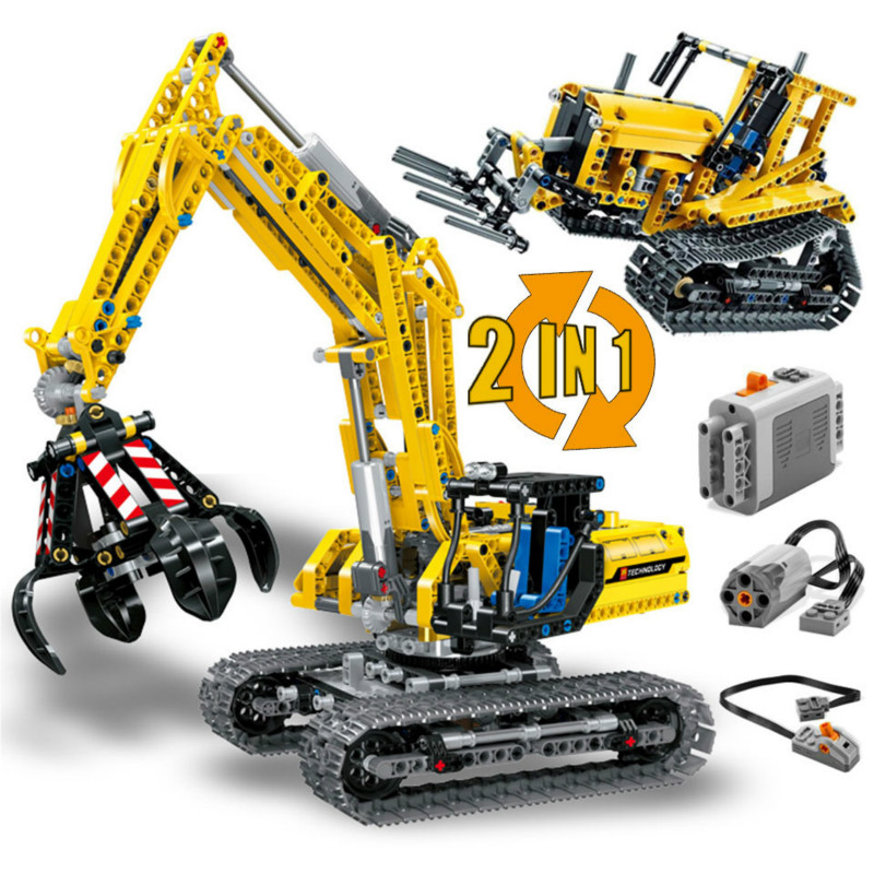New Excavator Compatible <font><b>Legoing</b></font> Technic <font><b>42006</b></font> Truck Model Building Blocks 720 Piece Bricks Boy Birthday Gift Toys For Children image