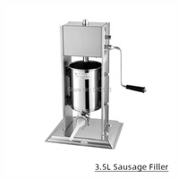 3L Manual Sausage Filler Vertical stainless steel meat filling stuffer machine filler     -