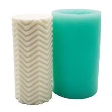 Creative 3D Cylindrical Silicone Candle Mold Soy Wax Beeswax Aromatherapy Candle