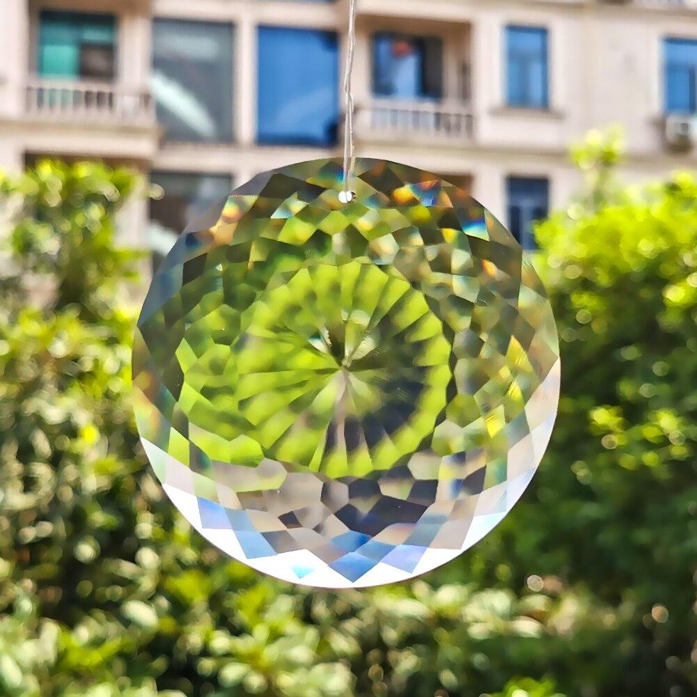 75MM Clear Glass Crystal Prisms Chandelier Crystals Pendants Suncatcher Hanging Ornament Crafts Accessories Home Garden Decor