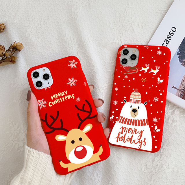 Christmas Cartoon Case for iPhone 12/12 Max/12 Pro/12 Pro Max 3