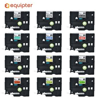 Multicolor Tze221 9mm Compatible for Brother p-touch label printers Tze tape tze-221 Tz221 Tze 221 Tz-221 label ribbon c