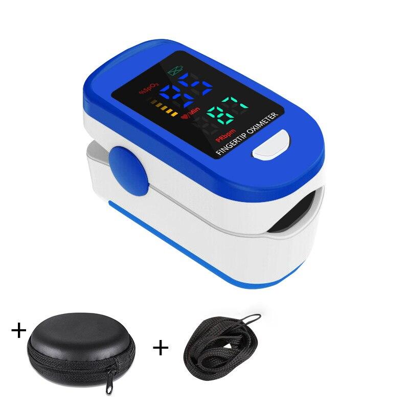 Пульсоксиметр Пальчиковый портативный, измеритель пульса и уровня кислорода в крови, с OLED дисплеем, медицинское оборудование