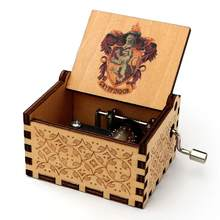Mão de madeira-dobrado caixa de música antiga esculpida música box3d caixa de impressão colorida presente de aniversário para presentes de natal do ano novo