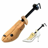 1 Pair Shoe Stretcher Wooden Shoes Tree Shaper Rack,Wood Adjustable Flats Pumps Boots Expander Trees Size S/M/L Man Women