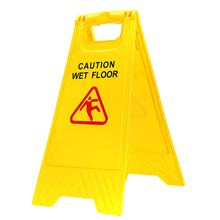 Sign-Tool Wet-Floor Warning CAUTION Safe-Clean Smooth Triple-Cornered Double-Sided