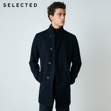 SELECTED Wool Blend Coat Stand Collar Jacket Winter Men's Slim Woolen Clothes S | 418427501(China)