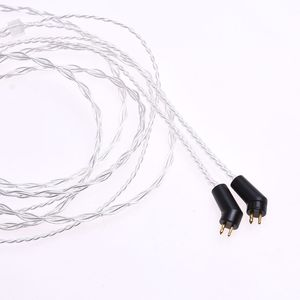 Image 4 - 1.2m (4ft) 5N OCC Silver Plated Headphone Upgrade Cable for Etymotic ER4P ER4B ER4S HiFi Cable 2Pin Plug