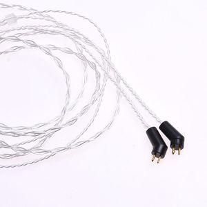 Image 4 - 1.2m (4ft) 5N OCC posrebrzane słuchawki kabel Upgrade dla Etymotic ER4P ER4B ER4S HiFi kabel 2Pin wtyczka