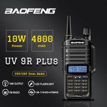 Alta Potencia Baofeng UV 9R más Radio de dos vías impermeable IP67 Walkie Talkie banda Dual Handhel largo alcance UV9R Plus Radio portátil