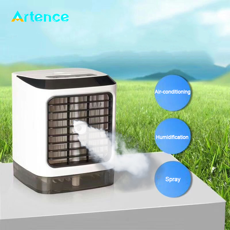 2020 New Mini Home Air Conditioner Multifunctional Spray Humidifier Air Purification Refrigeration Fan Air Conditioner