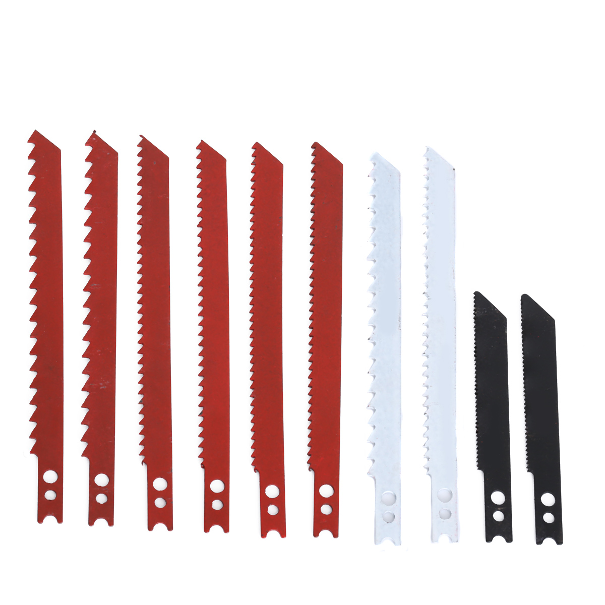 10pcs/set Durable Jigsaw Blades 60/97mm Jig Saw Blades Set For Cutting Metal Plastic Wood Power Tools